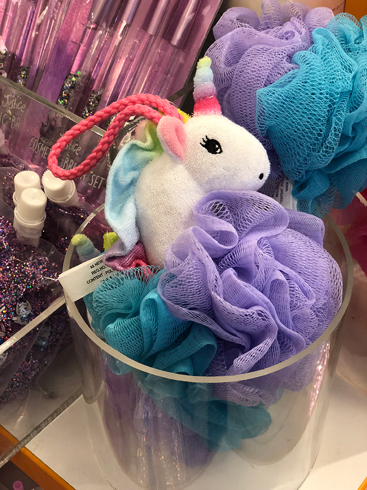 Justice Unicorn Bath Sponge