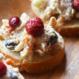 Cranberry Chicken Salad Bites Recipe