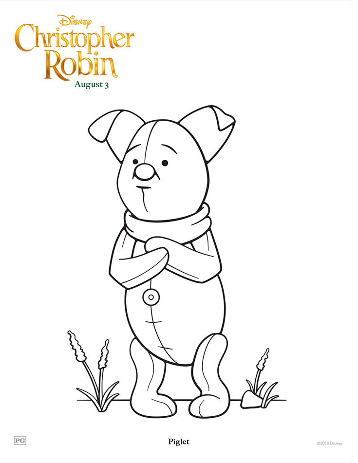 Free Printable Piglet Coloring Page