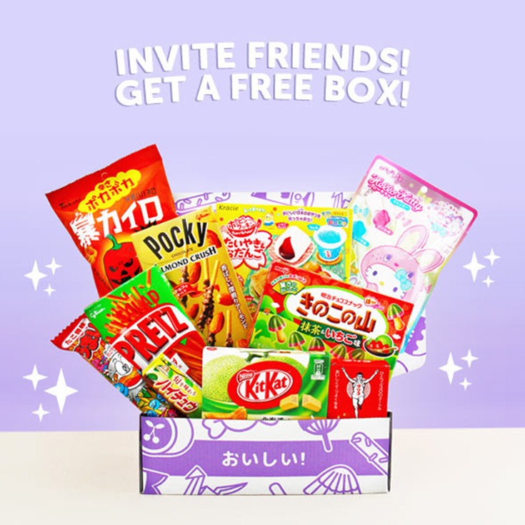 Invite friends, get FREE boxes!