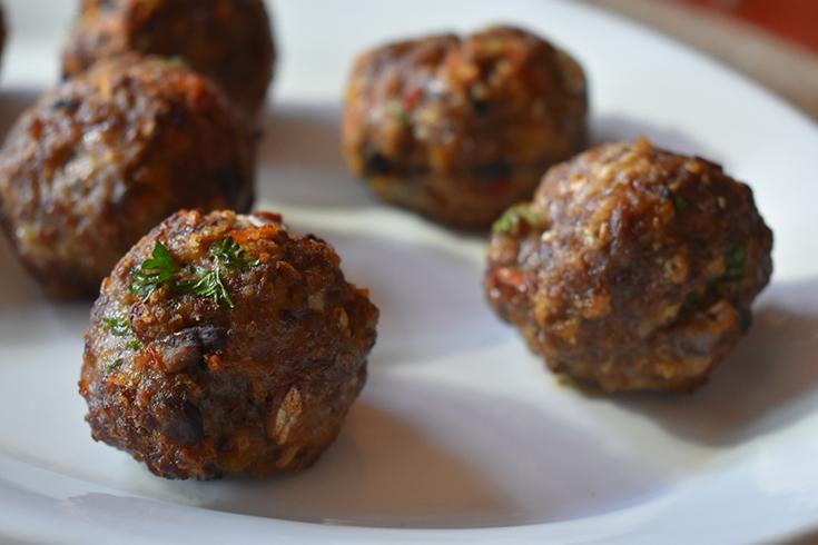 Air Fryer Beef & Portabella Mushroom Meatballs