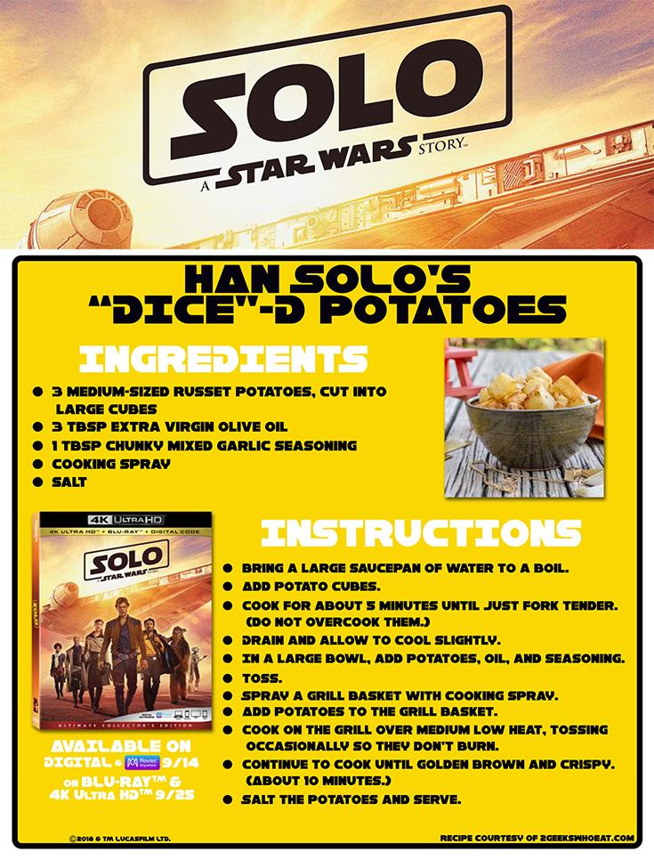 "Han Solo's ""Dice""-d Potatoes"