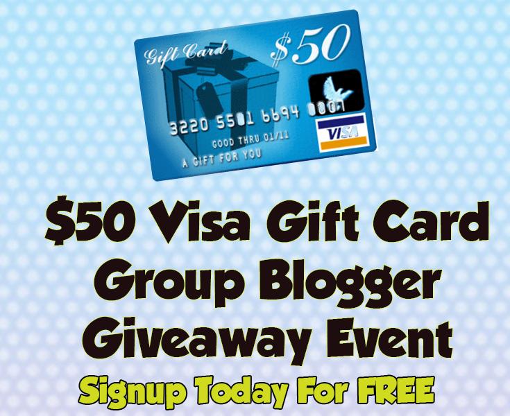 Blogger Opp: $50 Visa Gift Card Group Blogger Giveaway Event