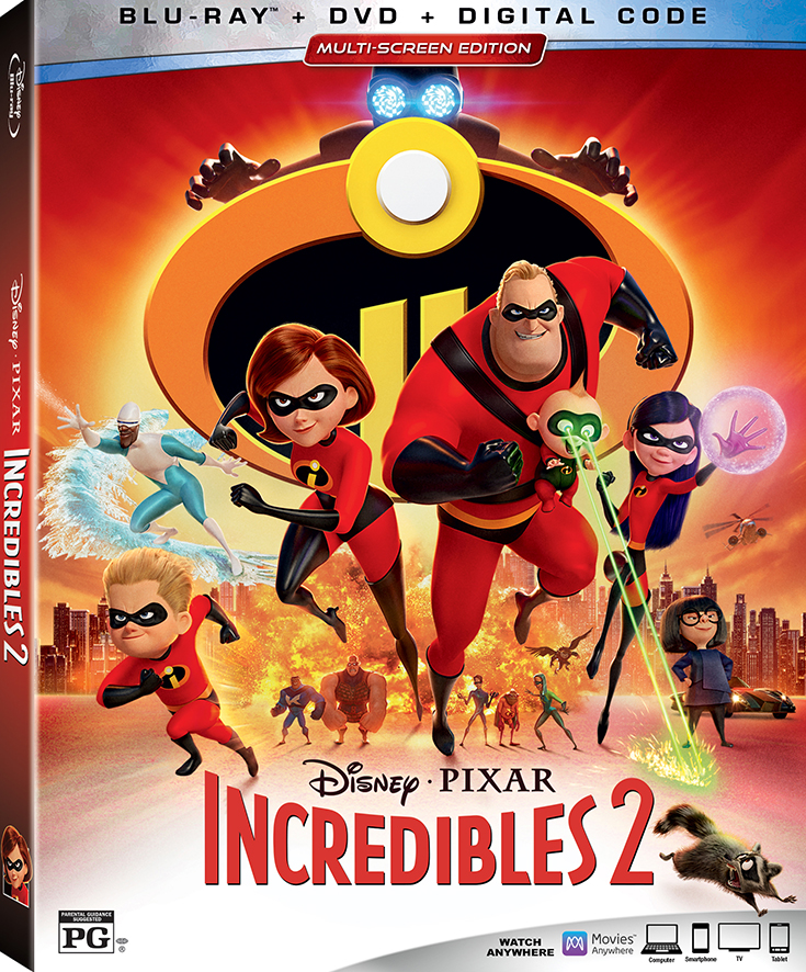 Incredibles 2 Is NOW Available On DVD, Blu-Ray & More...