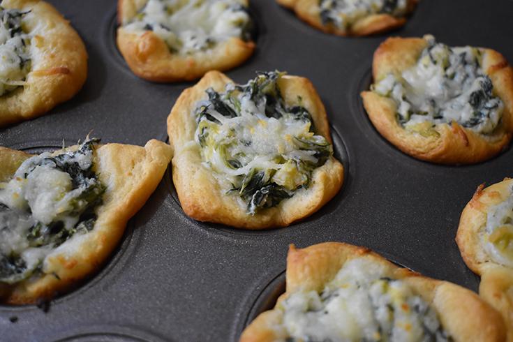 Easy Spinach Dip Puffs Recipe