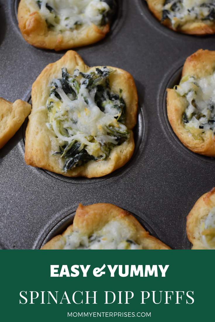 Easy Spinach Dip Puffs Recipe
