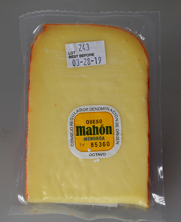 Semi-Cured Mahon-Menorca Cheese