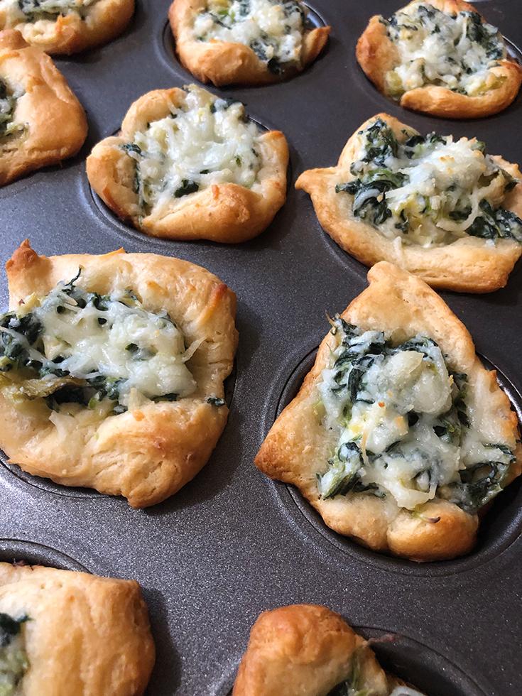 Spinach Dip Puffs Recipe