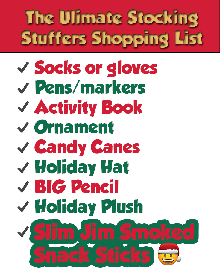Ultimate Stocking Stuffers Shopping List