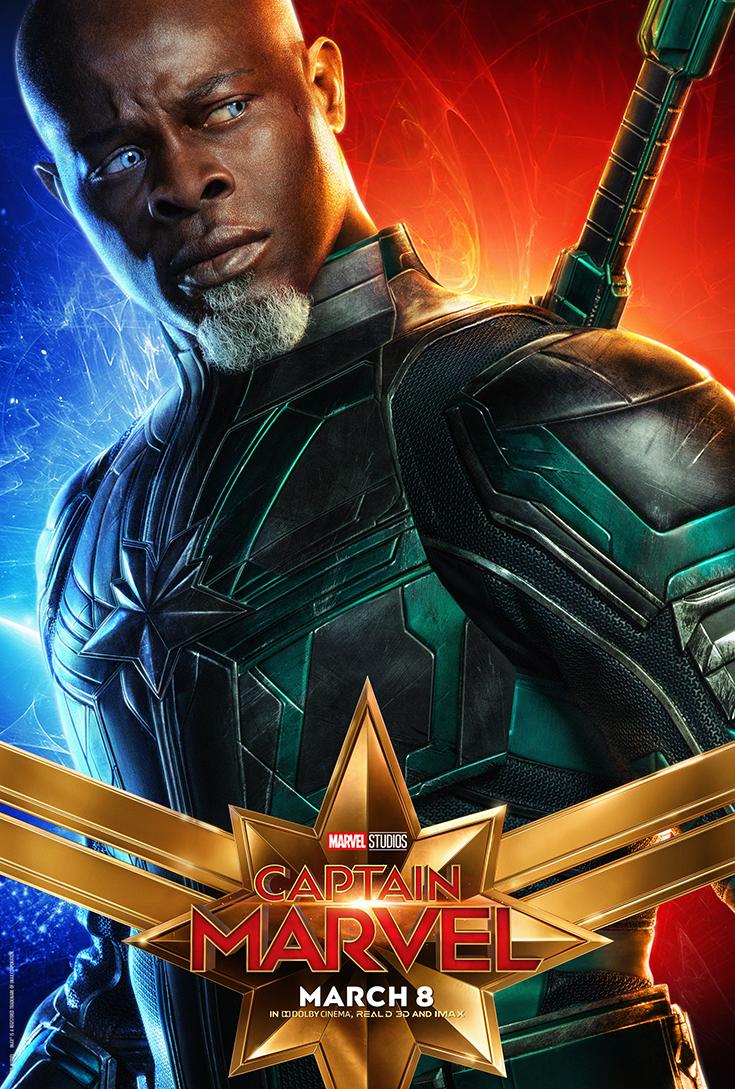 Captain Marvel Movie Poster - Korath the Pursuer/Djimon Hounsou
