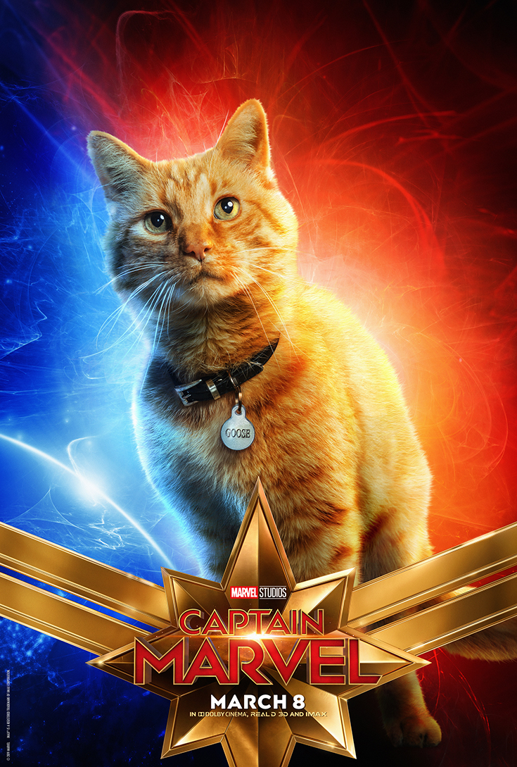 Captain Marvel - Goose - Movie Poster