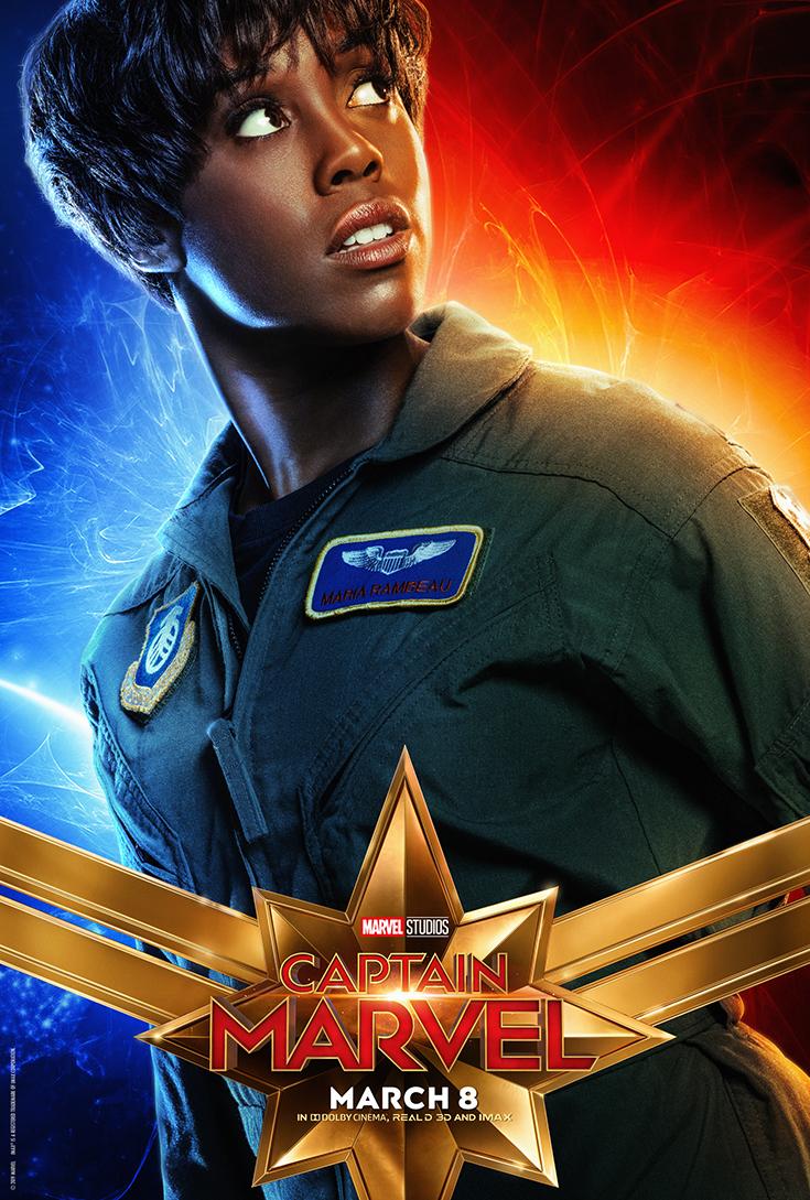 Captain Marvel Movie Poster - Maria Rambeau/Lashana Lynch