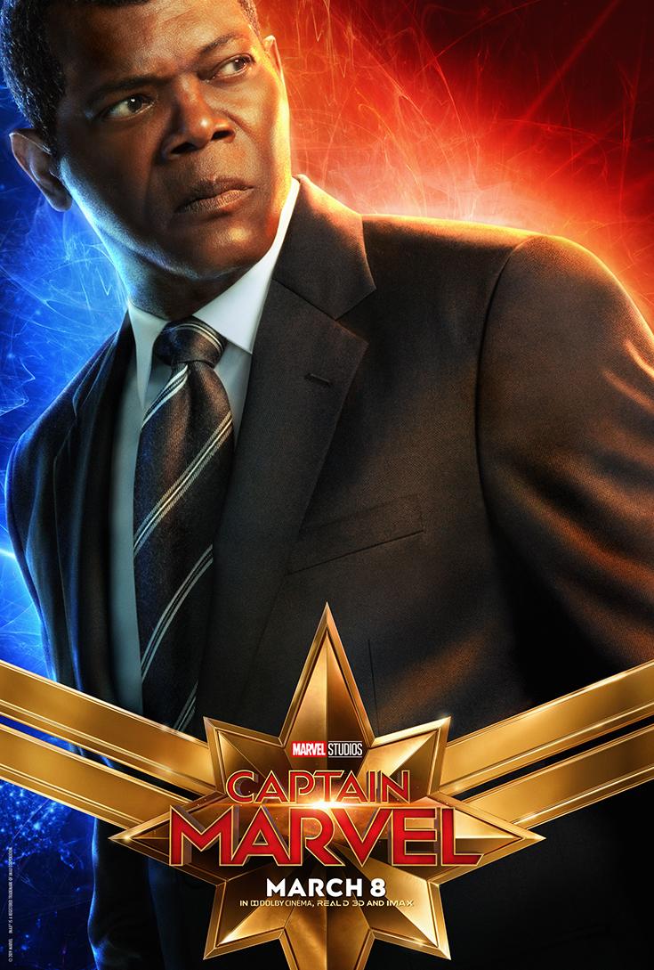 captain Marvel - Nick Fury - Movie Poster