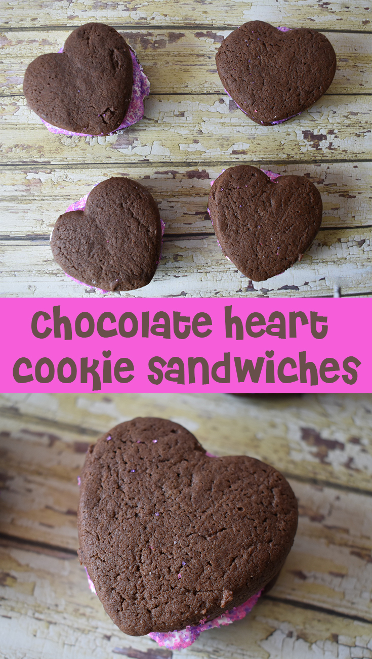 Chocolate Heart Cookie Sandwiches