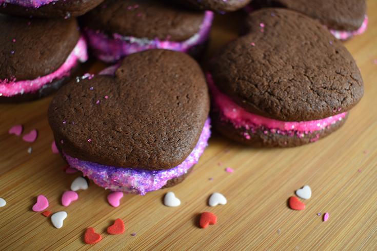Heart Chocolate Cookie Sandwiche