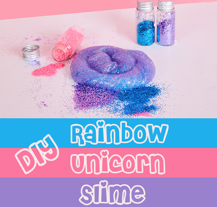DIY Rainbow Unicorn Slime