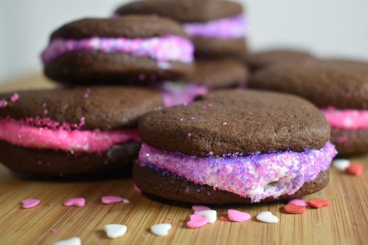 Recipe - Chocolate Heart Cookie Sandwiches