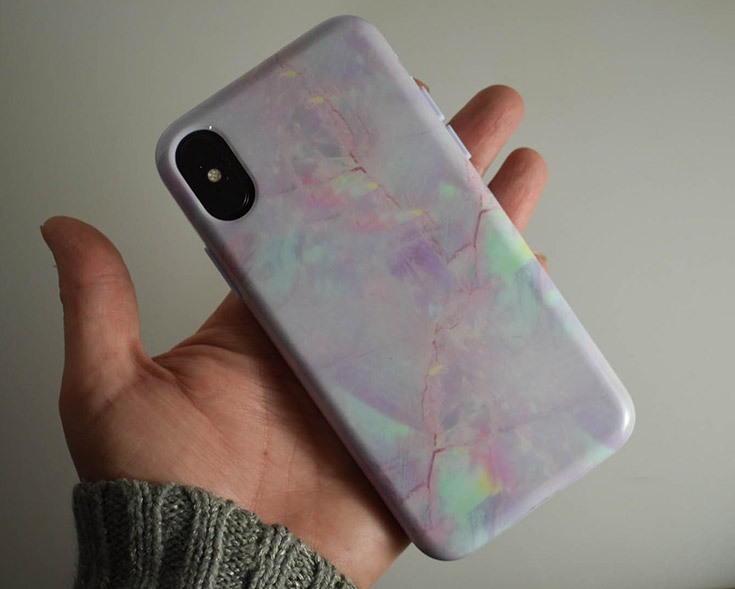Cotton Candy Marble iPhone X Case