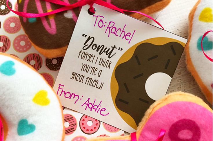 Free Donut Printable Valentine's Day Cards