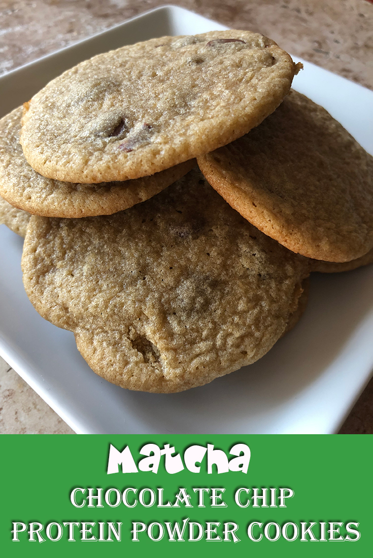 Matcha Chocolate Chip Protein Powder Cookies