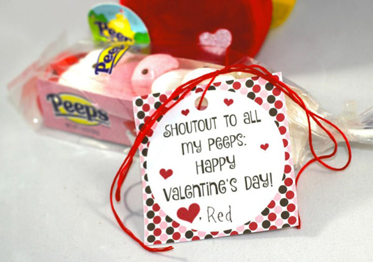 Free Shoutout To My Peeps Printable Valentine's Day Cards
