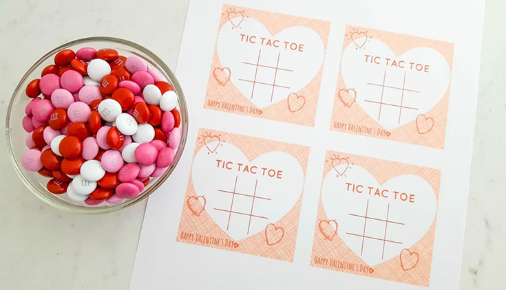 Free Tic Tac Toe Printable Valentine's Day Cards