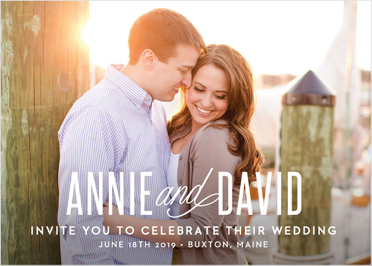 Basic Invite - Custom Wedding Invitations