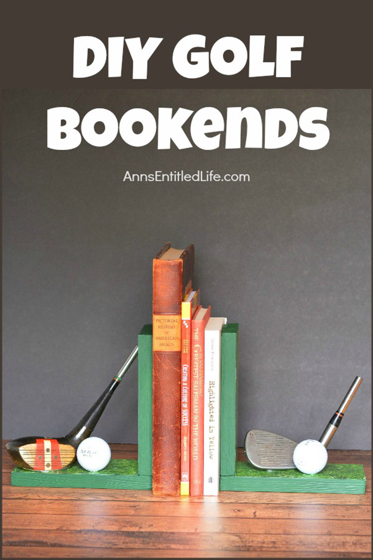 DIY Golf Bookends
