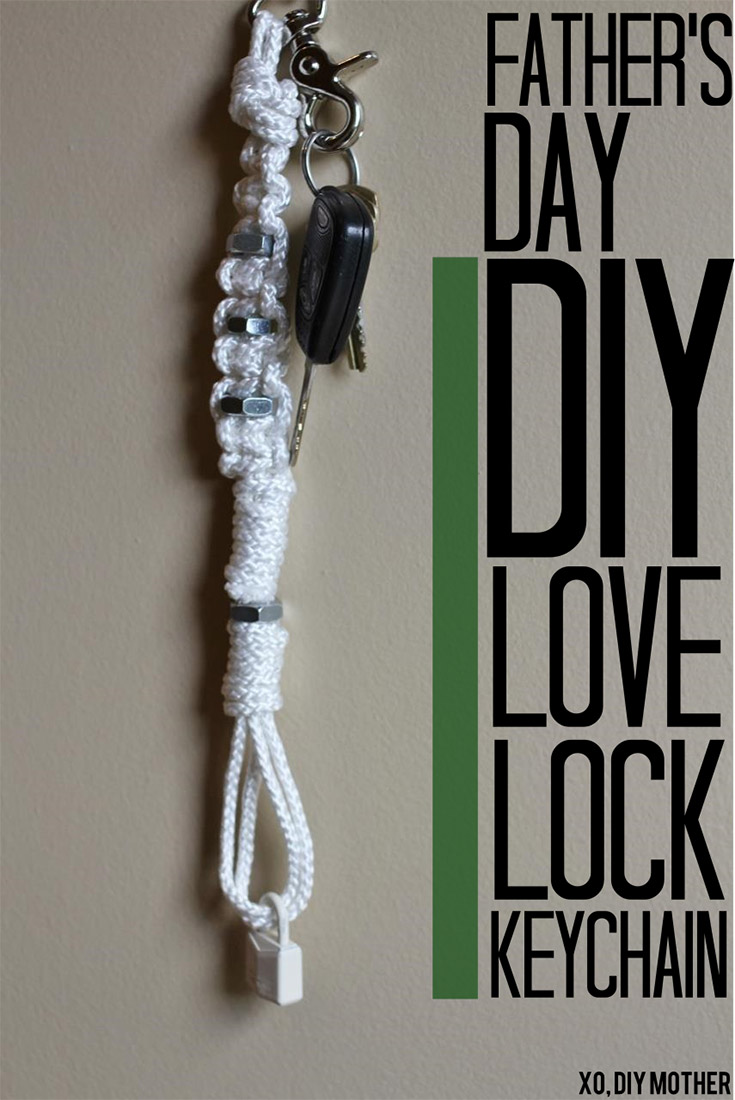 DIY Love Lock Keychain