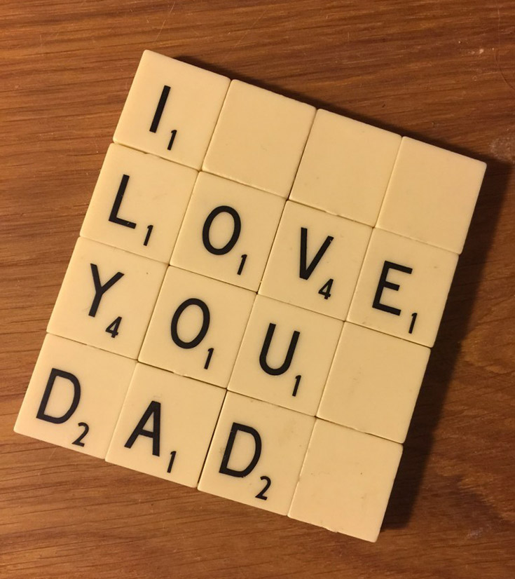 Scrabble Tile Father's Day Coaster