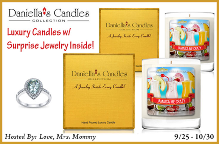 Daniella's Candles With Jewelry Prize Pack Giveaway