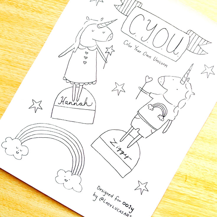FREE Unicorn Coloring Page