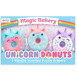 Unicorn Scented Donuts Erasers - Ooly