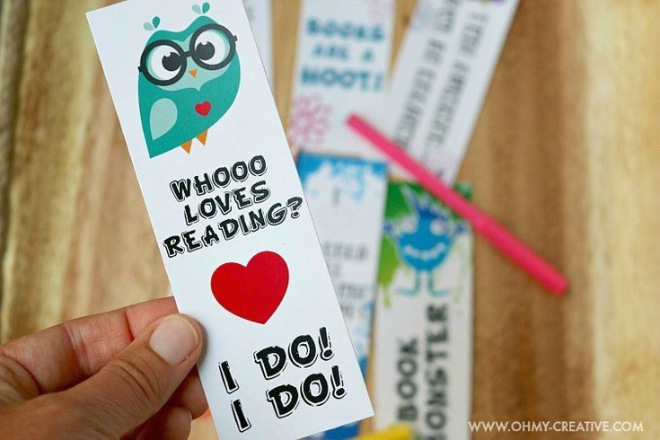 Paper Bookmarks To Color