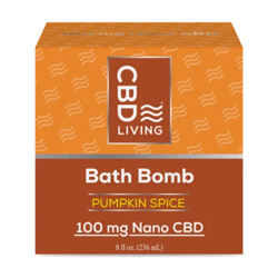 CBD Living Pumpkin Spice Bath Bomb