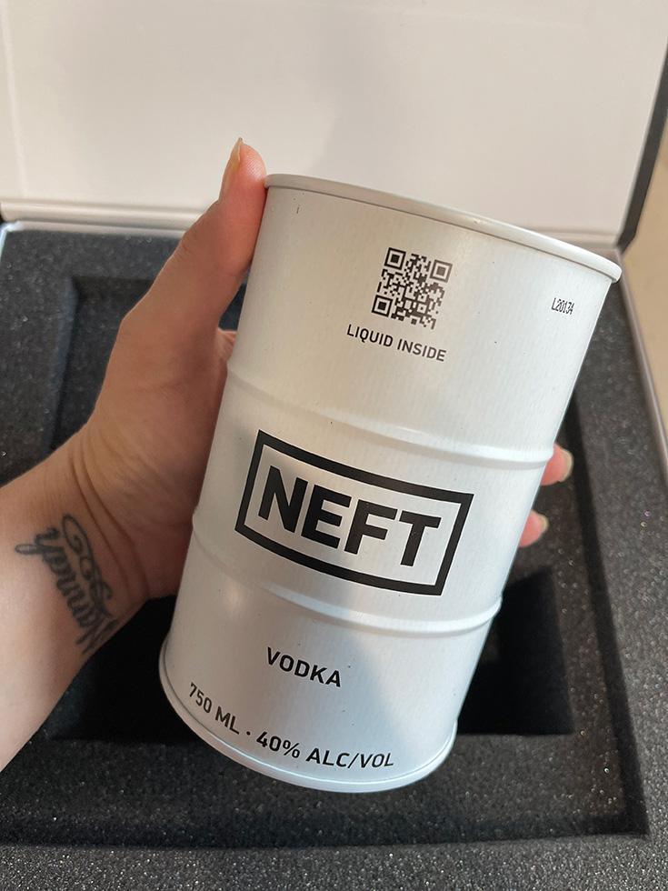NEFT Vodka Barrel