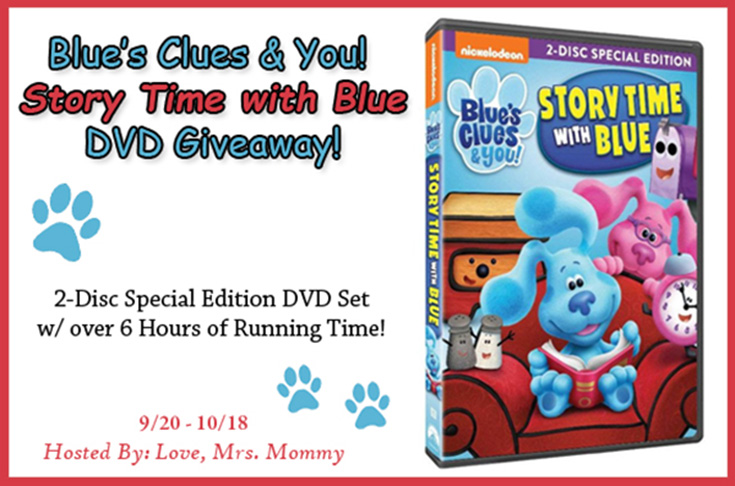 Blue's Clues & You! Story Time With Blue DVD Giveaway