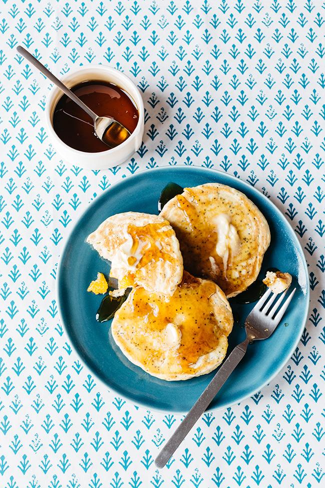 Mandarin Poppy Seed Pancakes