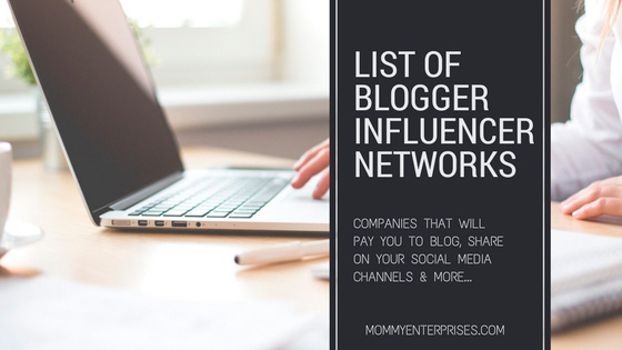 List Of Blogger Influencer Networks